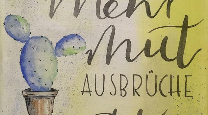 """Handlettering """"watercolor"""" im April"""
